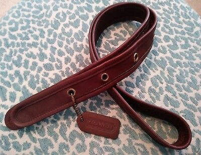 Vintage Brown Leather COACH Replacement Strap Hang Tag Charm Fob