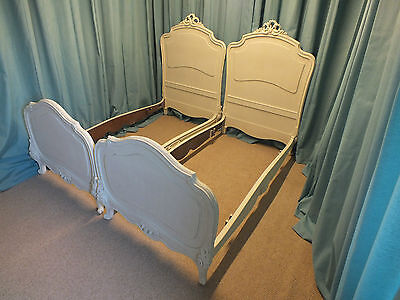 Stunning pair of French antique Louis XVI style beds
