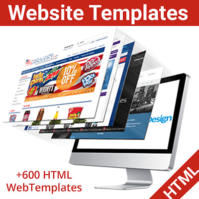 Over 600 HTML Website Templates Ready to Resell or Use
