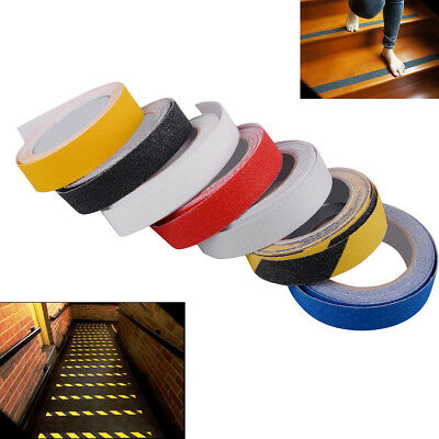 "5M 1"" Anti Slip Stair Tape Strips Flooring Step Sticker Safety Grip Mat Adhesive"