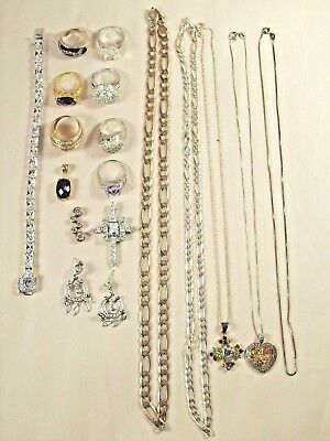 Sterling Silver Jewelry Collection - Scrap or Wear - 168 Grams