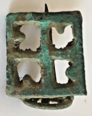 Ancient Roman Brooch Artifact Cross Design, Museum Quality Exact Reproduction #2