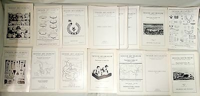 **LOT OF 134** Denver Art Museum Leaflets 1930-1957 *15 Different*FREE SHIPPING*