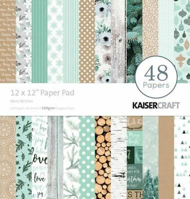 "Kaisercraft - Mint Wishes - 12 X 12 "" Paper Pad - (PP234)"
