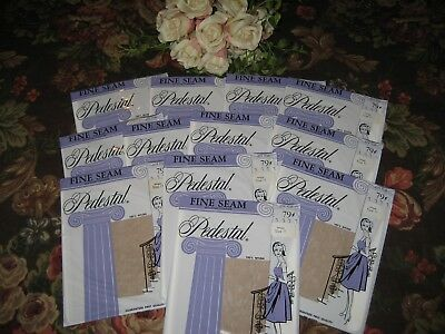 Vintage New Seamed Nylon Stockings  Size 11 Intrigue  60 Gauge 12 Pair In Lot