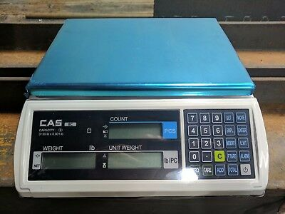 30 LB x 0.001 LB Cas EC-30 Series Retail Counting Scale NEW. Color Display