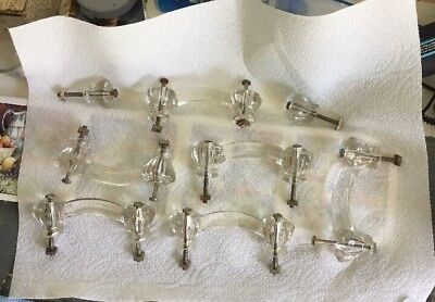 Vintage Glass Drawer Cabinet Door Handles antique Cupboard Hardware Pulls Knobs