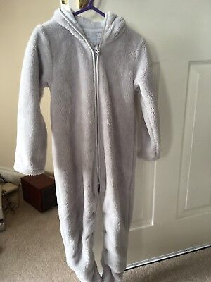 New grey Little White Company Baby Fleece Romper 18-24 months