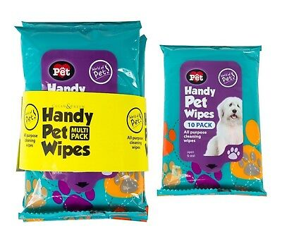 40Pk Pet Hygiene Wipes Dog Clean Ear Paw Body Grooming Doggy Head Litter New