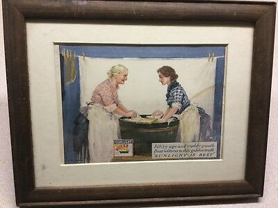 Antique Sunlight Soap Chromolithograph By Dudley Gardy