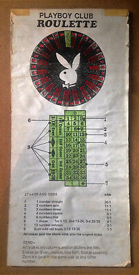 "Vintage Playboy Club Casino London Roulette Layout on Card 16"" x 7.5"""