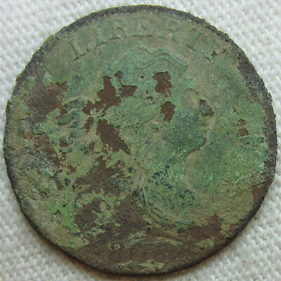 1805 Draped Bust Half Cent - Corroded
