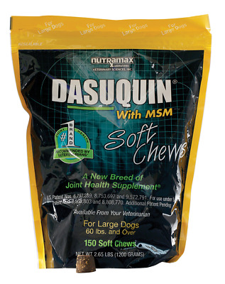 Dasuquin with MSM for Large Dogs (150 Soft Chews), 10/2020, NEW