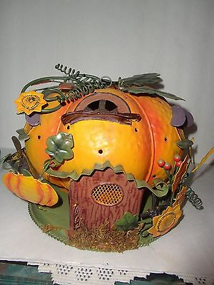 Home Interiors Metal '' Pumpkin House '' Candle Lantern  Gorgeous