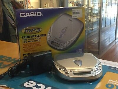 Casio (Pz-5000) Portable Compact Disc Player In Box / Vgc !