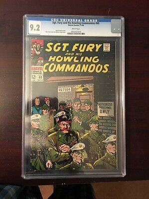 SGT Fury - And His Howling Commandoes #60 - CGC 9.2!  Beauty!