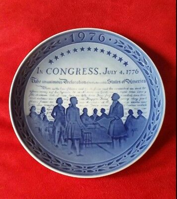 Royal Copenhagen Plate 1976 United States Bicentenary Commemorative Bicentennial