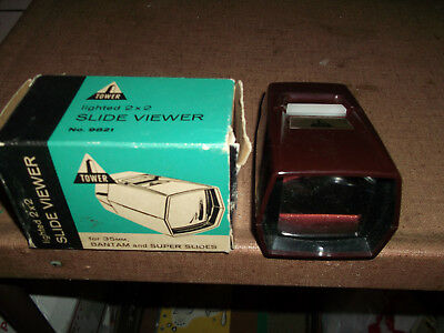 Collectible Vintage Slide Viewer - Lighted 2X2 - Made By Tower For Sears Roebuck
