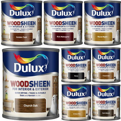 Dulux Woodsheen 750ml Quick Drying Stain & Varnish Use Interior & Exterior