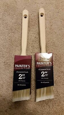 """Painters Collection 2"""" all purpose Single Sash Paint Brushes set of 2"""