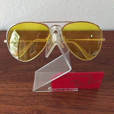 Vintage Ray Ban Bausch and Lomb Yellow Kalichrome Aviators Sunglasses 58 mm