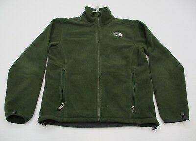 THE NORTH FACE #J3459 Men's Size M Casual Hiking Full Zip Green Fleece Jacket