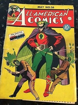 All American #26 Green Lantern - Cover Only - Ideal To Match With Coverless Copy