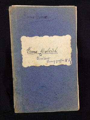 1914 Handwritten German Cookery Recipes Cookbook With Clippings