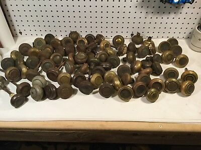 Vintage Architectural Salvage Door Knobs Lot Of 80+ Brass and Steel