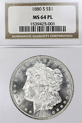 1880-S MS64 PL Morgan Silver Dollar $1 graded by NGC as Prooflike!!