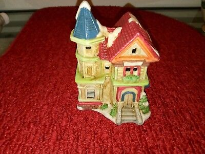 Vintage 1993 Porcelain Lighted Village House WITHOUT electrical light included