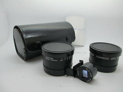 Anscor AUX 46mm filter thread TELE WIDE View finder Lens Sigma 19mm 30mm 60mm