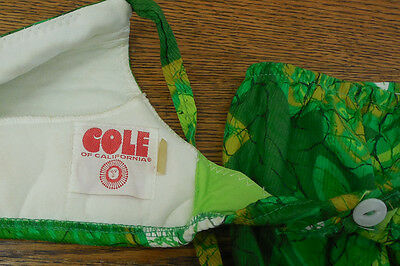 Cole of California Two Piece Vintage Swimsuit; bathing suit, 60's. 70's