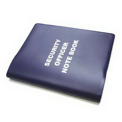 Small Plain Security Notebook 126 lined pages, stationery, black, navy