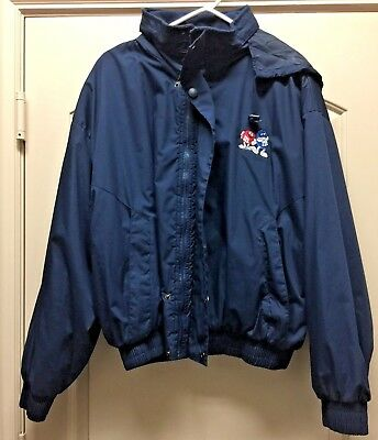 M&M's Character Hooded Embroidered Jacket Adult Sz XL M&M/MARS - RARE!