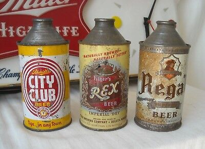 3 Pack of Minnesota Cone Top Beer Cans