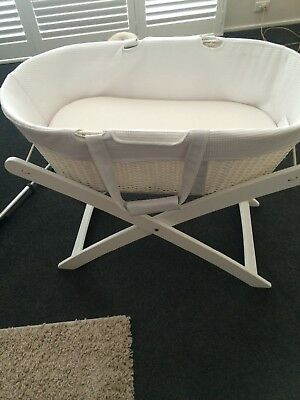 White Childcare Moses Style Bassinet Basket