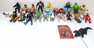 large lot of 24 marvel jakks pacific titan lanard jesco figures