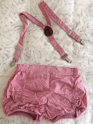Lacey Lane Puckers & Matching Suspenders Size 5