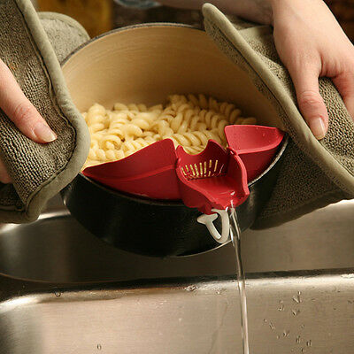 New Hot Silicone Soup Funnel Kitchen Gadget Tools Water Deflector Cooking Tool
