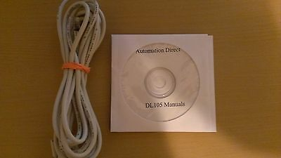 Automation Direct DL105 Programming Cable D2-DSCBL with Software and Manuals