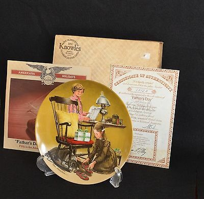 Father's Day Collector Plate By Don Spaulding  Nib