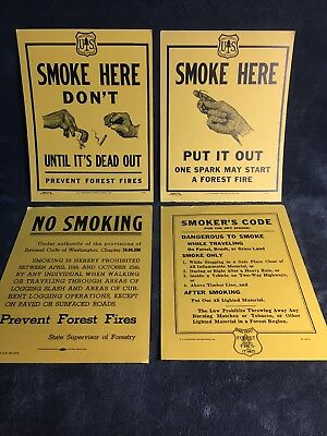 Us Forest Service Government Printed No Smoking Signs