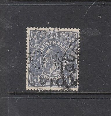 "SMW PERF 14: 3d Blue Perf OS ""INVERTED WATERMARK"" SG O93w ""TYPE B"" BW 106ab used"