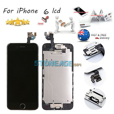 """Black For iPhone 6 4.7"""" Complete Touch Screen Replacement LCD Digitizer + Button"""
