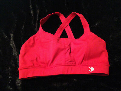 Womens Active Wear Crop Top - One Active Brand - Size 14 - Red - NEW
