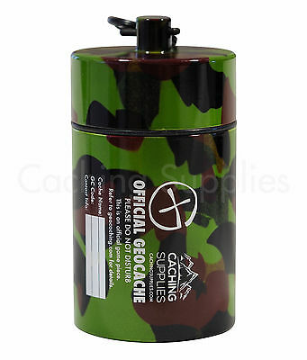 Jumbo Bison Tube Geocache Container with Log for Geocaching (5 Colours)