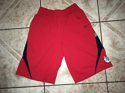 Men's Nike Bulldogs Dri-Fit Running Shorts Size S Small Red Polyester Athletic