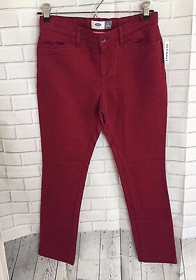 Old Navy Girls Burgundy Red Skinny Pants Jeans size: 14 New with Tags