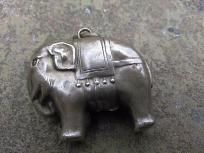 Vintage SILVER PLATED Elephant Rattle